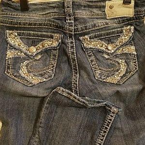 Silver Suki slim boot jean with embellishments